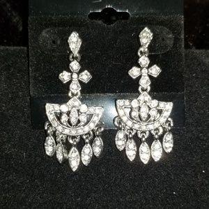 Vintage Chandalier Crystal Earrings